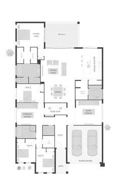 Oasis floor plan by McDonald Jones. Exclusive to Queensland. #floorplan, #housedesigns, #mcdonaldjones