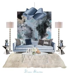 """""""Living Room Goals III"""" by adswil ❤ liked on Polyvore featuring interior, interiors, interior design, home, home decor, interior decorating, ModShop, Safavieh, LZF and Driade"""