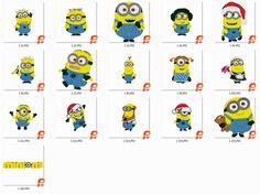 16 The Minions, Maschine Stickerei Muster,2 grössen 4x4 und 6x6 inch, PES  sofort-Download by CreaInvento on Etsy