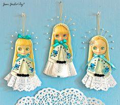 Quirky Artist Loft: Free Papercraft: Blythe Christmas Ornaments