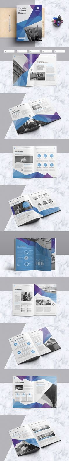 Creative & Clean Company Brochure Template InDesign INDD