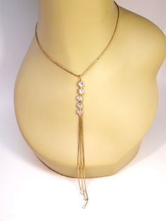 Vintage Necklace Lariat Choker Art Deco 5 Large by BagsnBling, $10.99