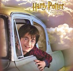Harry in the sky in the Chamber of Secrets