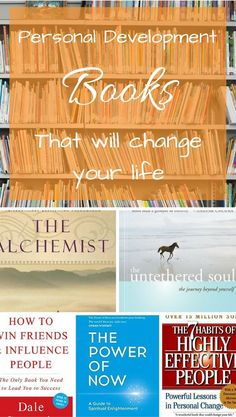These personal development books are sure to change your life. Repin on your to-read boards!