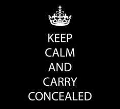 Bday gift for Cathy! :)  Keep Calm and Carry Concealed Tshirt in black or red by watatees, $12.00