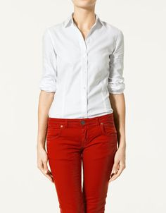 i like the red pants with the white shirt... very french