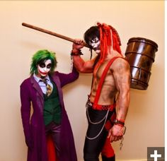 Gender swapped Joker and Harley Quinn cosplay