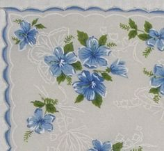 Vintage Handkerchief by ElliesLoft3 on Etsy, $8.00