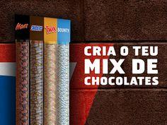 Snickers Portugal - Liberdade para escolher. Liberdade para saborear. Liberdade para criares o teu mix de chocolates MARS!!
