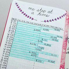 Step tracker bullet journal