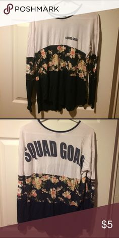 Rue 21 Juniors L Squad Goals Long Sleeved Tee Previously enjoyed! Smoke free home! Rue 21 Tops Tees - Long Sleeve