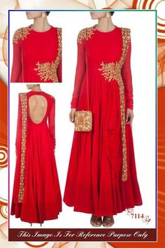 Beautiful Red Bollywood Anarkali suit online