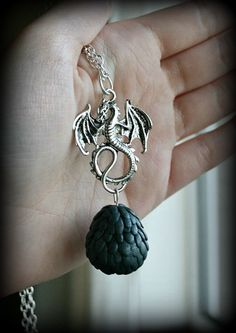 Image of Game of Thrones Inspired Dragon Egg Necklace.