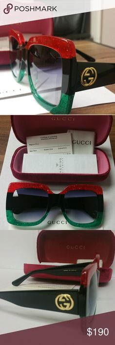 Women Authentic oversized GG0083S Gucci Sunglasses Case, cloth,c certificate and booklet including. Open box but never used. 100% authentic with serial #, model #. GG0083S 002 55 24-149.  DODBZ03729 Gucci Accessories Sunglasses