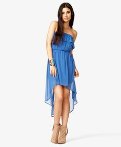 Flounced High-Low Dress | FOREVER 21 - 2046127247