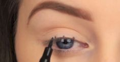 Get Perfect Winged Eyeliner Every Single Time With This Grade-School Hack! via LittleThings.com