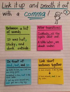 When and how to use commas