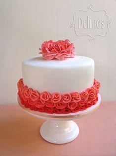 Ideas Birthday Cupcakes For Women Pretty Pretty Cakes, Cute Cakes, Beautiful Cakes, Yummy Cakes, Amazing Cakes, Cake Icing, Fondant Cakes, Cupcake Cakes, Kino Party