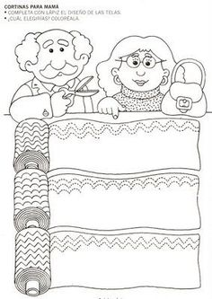 Crafts,Actvities and Worksheets for Preschool,Toddler and Kindergarten.Lots of worksheets and coloring pages. Tracing Worksheets, Kindergarten Worksheets, Worksheets For Kids, Fine Motor Activities For Kids, Book Activities, Kids Learning, Preschool Writing, Preschool Activities, My Family Worksheet