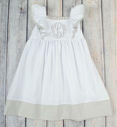 Stellybelly White/Gray Peasant Dress