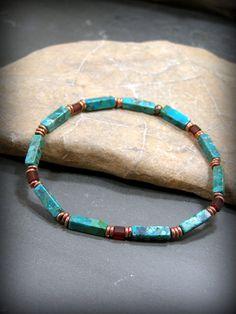 Mens Beaded Bracelet, Turquoise Bracelet, Mens Jewelry, Bracelet for Men, Stack…