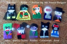 Batman Finger Puppets Pattern & Tutorial by 3BoysWeaponsandToys, $4.00