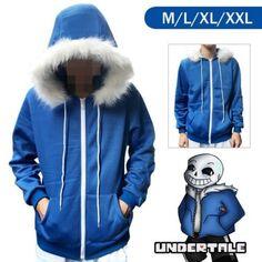 Anime Hot Undertale Sans Hoodie Coat Sweatshirt Cap Cosplay Costume Zipper Outer Otaku Unisex