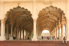Inside Agra Fort, India