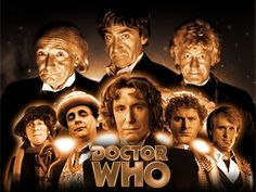 The first 8 doctors. 1-WILLIAM HARTNELL 1963-66. 2-PATRICK TROUGHTON 66-69 A relative of Patrick Troughton would later Direct the 10th Doctor episode The Doctors Daughter. 3-JON PERTWEE 70-74. 4-TOM BAKER 74-81 5 PETER DAVISON 81-84 The real life daughter of the 5th doctor, Peter Davison was the actress who played The Doctors Daughter in the episode of the same name. 6 COLIN BAKER 84-86. 7 SYLVESTER McCOY 87-89 & 96. 8 PAUL McGANN 1996