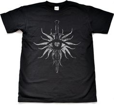 Distressed Inquisition Black T Shirt Small