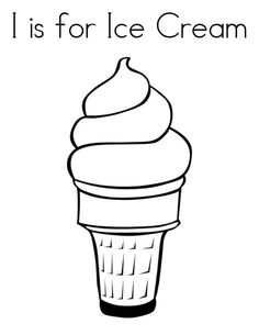 Yummy Ice Cream Cone Coloring Pages Ice Cream Coloring Pages, Abc Coloring Pages, Free Printable Coloring Pages, Yummy Ice Cream, Ice Cream Van, Vanilla Ice Cream, Cartoon Ice Cream Cone, Ice Cream Cone Drawing, Ice Cream Outline