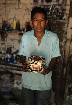 Man with Tigre Mask Mexico
