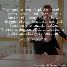 Tom Hiddleston - god of table tennis
