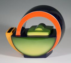 Art Deco Teapot 4 /Green Fade