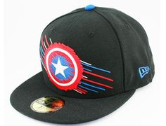 MARVEL COMICS x NEW ERA 「Captain America Swift Color」59Fifty Fitted Baseball Cap