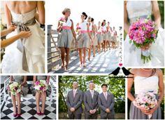 Grey and pink wedding = L♥VE!