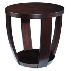 Sotto Sienna Wood Round Open End Table - Overstock™ Shopping - Great Deals on Magnussen Home Furnishings Coffee, Sofa & End Tables