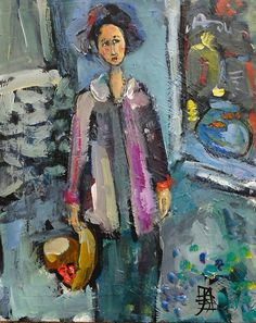 Window Shopping - contemporary figurative painting by Joanie Springer