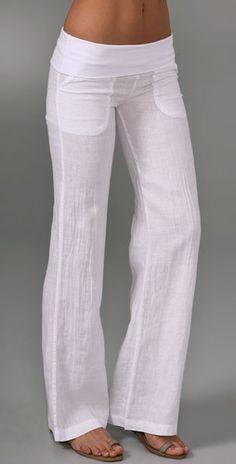 white linen pants low rise