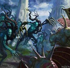 Age of Sigmar artwork   Aelfs   New wood elves / woodkin artwork #Warhammer…