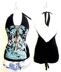 Led Zeppelin (レッドゼッペリン) ★Tシャツで作ったセクシータンクトップ&ネックレス★