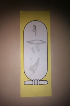 Build on interest and knowledge gained about hieroglyphics to create student name cartouches!