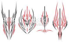 Custom Pinstriping Designs First Royalty Free Stock Vector Art Illustration