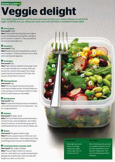 Super post workout veggie salad!