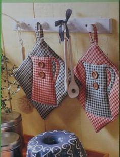 Выкройки прихваток для кухни своими руками