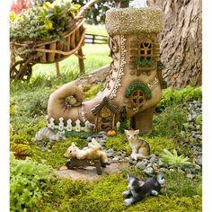 Lighted Shoe Fairy House