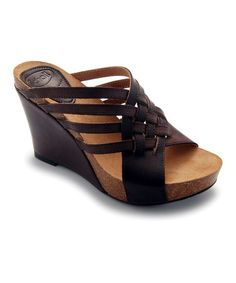 Take a look at this Mocha Ajede Wedge by Scholl on #zulily today!