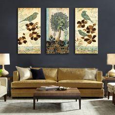 28c6a58de72 Πίνακες ζωγραφικής καμβά Drop Shipping Εικόνες τοίχων για σαλόνι με πλαίσιο  3 τεμάχια Modular πίνακες για το τοίχο Αρχική διακόσμηση