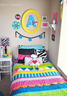 Colorful Little Girls Bedroom #kidsbedrooms