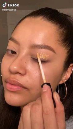 Baddie Makeup, Edgy Makeup, Makeup Eye Looks, Eye Makeup Art, Black Makeup, No Eyeliner Makeup, Skin Makeup, Makeup Tips, Fresh Makeup